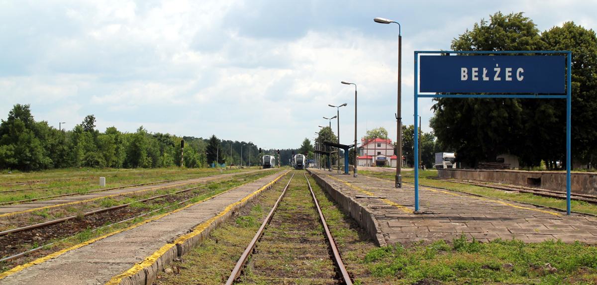 Belzecin aseman ratapiha, täällä SS otti junien vaunut vastaan ajaakseen ne leirin sisäpuolelle.